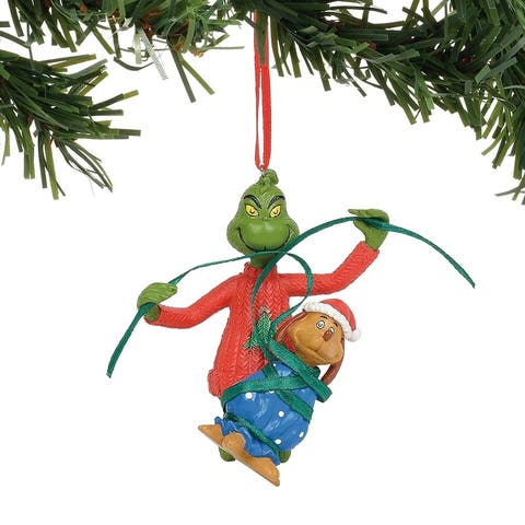 Department 56 Dr. Seuss Grinch Wrapping Max Christmas Tree Ornament #6011005