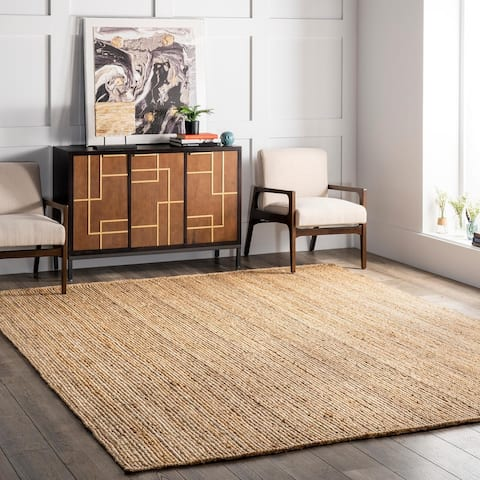 The Gray Barn Dry Creek Braided Reversible Jute Area Rug