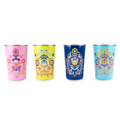 Frida: Assorted Painted Floral Tumblers by Blush®