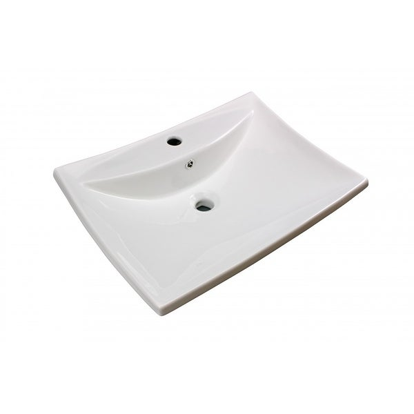 Bathroom Sink White China Deluxe Square Wall Mount | Renovator's Supply