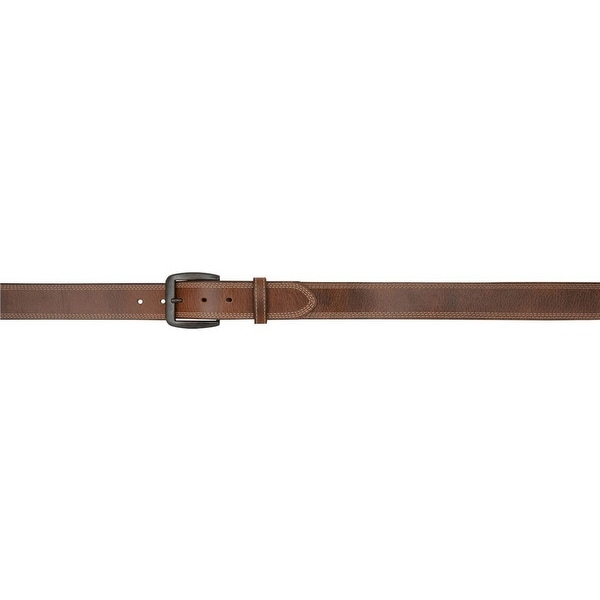 3D Belt Mens Western Removable Antique Brass Vintage Brown