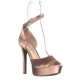 Jessica Simpson Beeya Ankle Strap Platform Sandals, Nude Blush