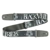 Black Veil Brides Guitar Strap - BVB Star Logo Black/White