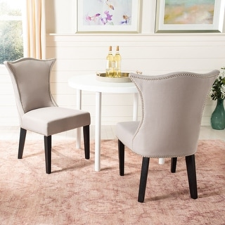 """Link to Safavieh Dining Ciara Taupe Dining Chairs (Set of 2) - 22.6""""x26.8""""x38.2"""" Similar Items in Window Treatments"""