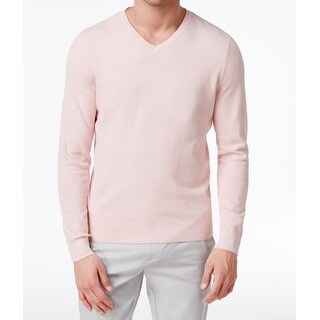 Vince Camuto NEW Light Pink Mens Size XL Long Sleeve V-Neck Sweater