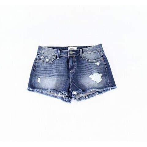 Paige Women's Distressed Denim Shorts, Blue, 29