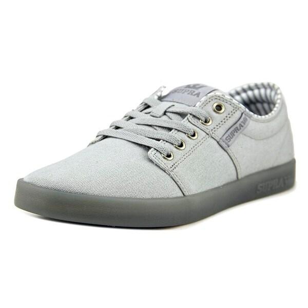 Supra Stacks II Men Light Grey-Ice Skateboarding Shoes