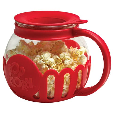 Primula 1526 Ecolution Snack Size Microwave Popcorn Popper, Red/Clear