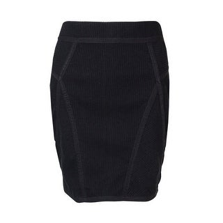 RACHEL Rachel Roy Women's Seamed Fitted Skirt - Black