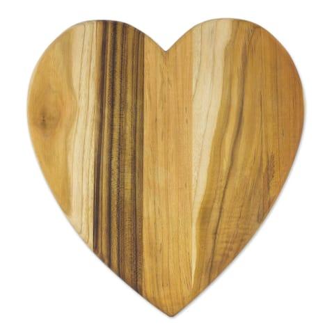 "Handmade Heart Of Cooking Teakwood Cutting Board (Guatemala) - 13.0 "" L x 11.75"" W x 0.8 "" D"