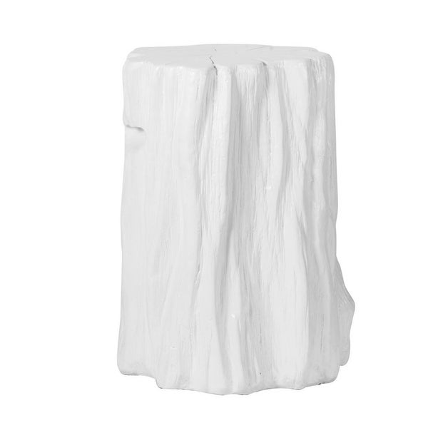 """20"""" White Contemporary Style Modern Chic Tree Trunk Stool - N/A"""