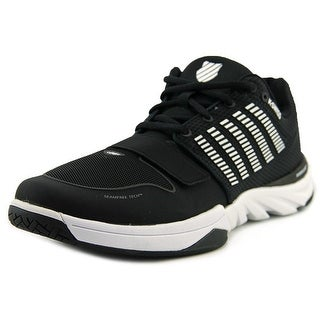 K-Swiss X Court Men  Round Toe Canvas Black Tennis Shoe