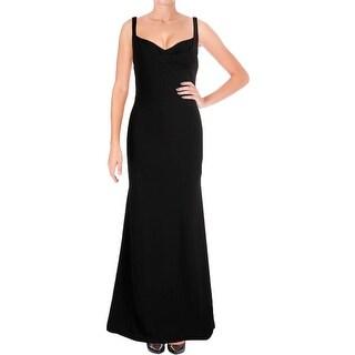 Vera Wang Womens Evening Dress Crepe Sweetheart Neck