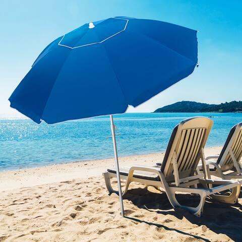 Bonosuki 6.5ft Beach Umbrella with Sand Anchor, Carry Bag, UV 50+