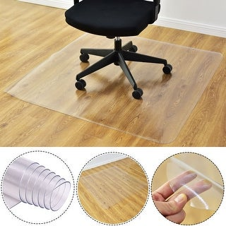 Costway 47'' x 47'' PVC Chair Floor Mat Home Office Protector For Hard Wood Floors