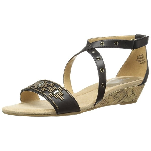 Easy Spirit Women's Malvina Dress Sandal, Black/Black, Size 10.0