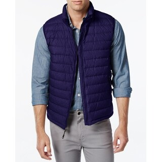 Weatherproof NEW Blue Mens Size Small S Quilted Packable Vest Jacket