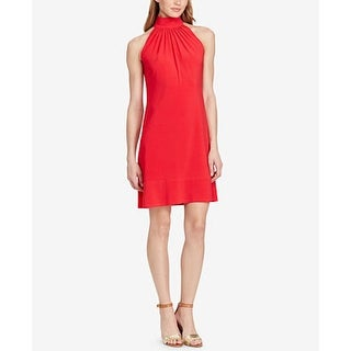 American Living Mock Neck Jersey Dress Coral - Size 6