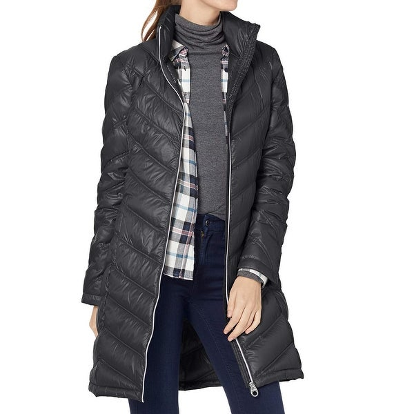 80f7d81fcca1 Shop Calvin Klein Black Women's XL Zip Front Long Packable Down Jacket -  Free Shipping On Orders Over $45 - Overstock - 27978974