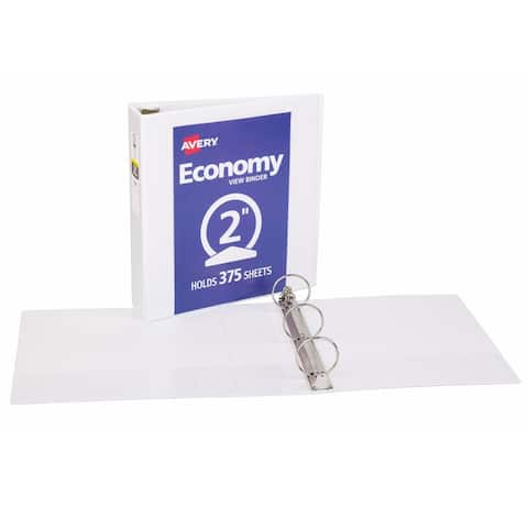 Avery 2in capacity white view binder 5731