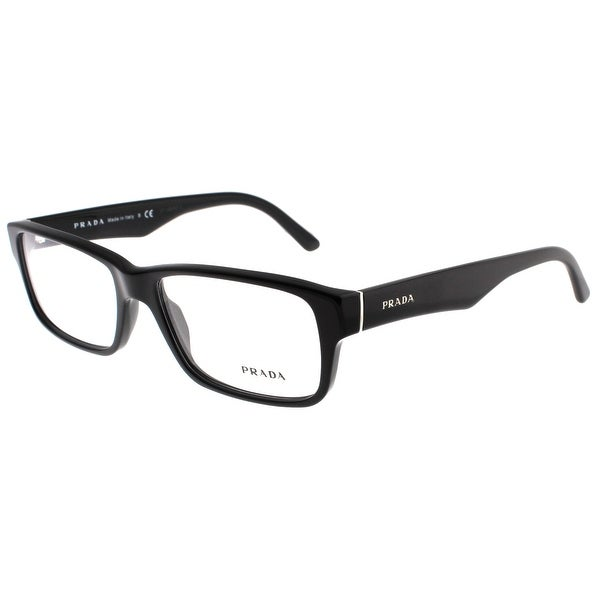 Prada VPR 16M 1AB 1O1 55mm Shiny Black Rectangle Eyeglasses Optical Frames - Shiny Black - 55mm-16mm-140mm