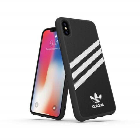 Adidas Samba 3-Stripes Case for iPhone Xs Max, Black/White