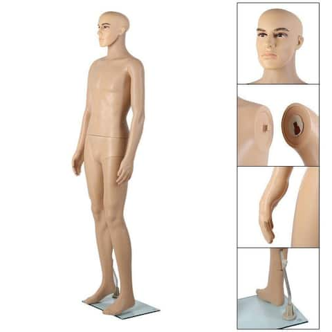 Male Full Body Mannequin Manikin Metal Stand Display - N/A