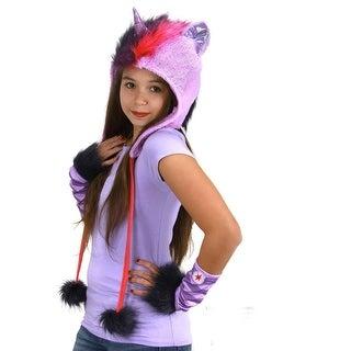 My Little Pony Twilight Sparkle Costume Hoodie Hat - Purple