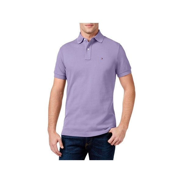9876fb90 Shop Tommy Hilfiger Mens Polo Shirt Custom Fit Short Sleeve - Free ...