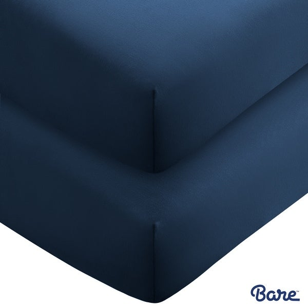 Bare Home 2-Pack Microfiber Fitted Bottom Sheets Deep Pocket. Opens flyout.