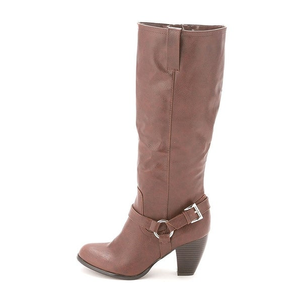 Style & Co. Womens LEIGHH Almond Toe Knee High Cowboy Boots - 6