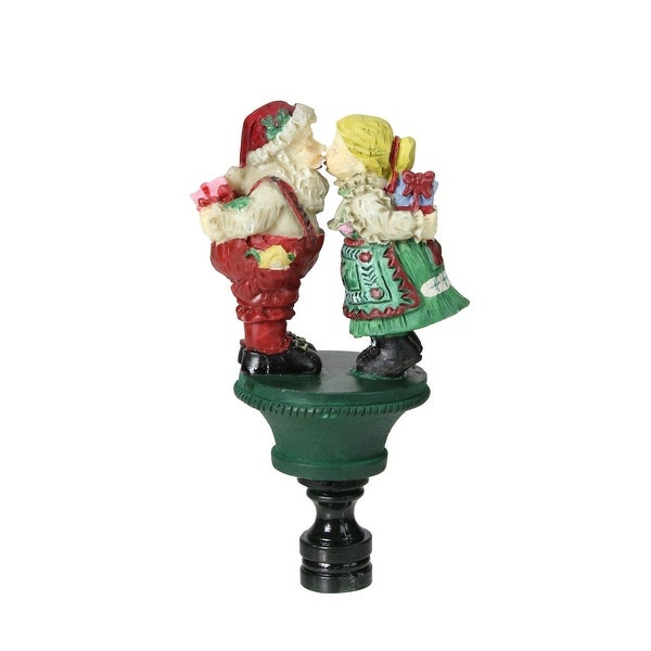 "Club Pack of 144 Santa and Mrs. Claus Christmas Lamp Shade Finials 3.75"" - multi"