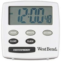 West Bend 40055 Electronic Timer with Clock, White