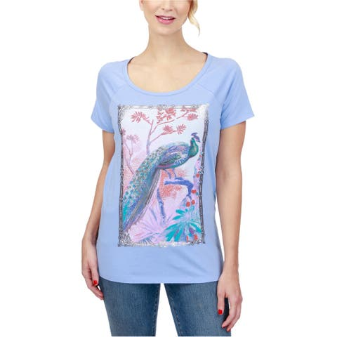 Lucky Brand Womens Peacock Graphic T-Shirt