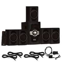 Acoustic Audio AA5240 Bluetooth 5.1 Speaker System Optical Input & 4 Ext. Cables