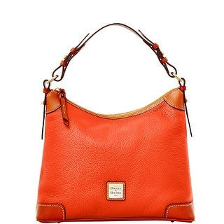 Dooney & Bourke Pebble Grain Hobo (Introduced by Dooney & Bourke at $228 in Jan 2014) - Persimmon