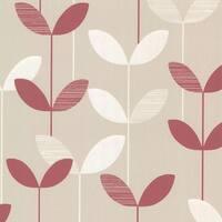 Brewster 2533-20204 Ernst Pink Linear Leaf Wallpaper - N/A