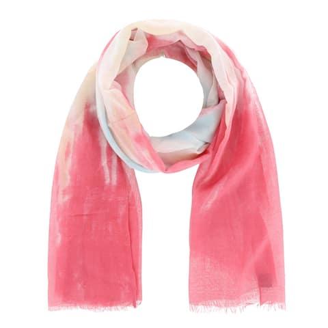 David & Young Women's Tie Dye Lightweight Oblong Scarf - one size