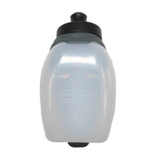 SPIbelt Ergonomic 6 Ounce Water Bottle with Bounce Free Clip - Black