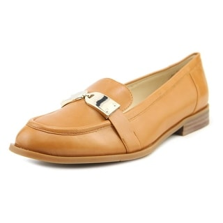 Nine West Town Hall Women Round Toe Leather Tan Loafer