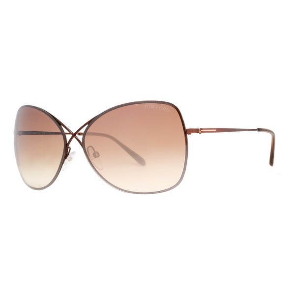 Tom Ford Colette TF 250 48F Bronze/Brown Gradient Women's Butterfly Sunglasses - Bronze - 63mm-12mm-135mm