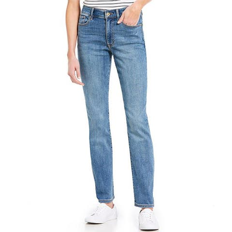 Tommy Hilfiger Women's Tribeca Straight Denim, Enchanted Wash, 8