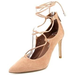 Donald J Pliner Pella Women Pointed Toe Suede Pink Heels
