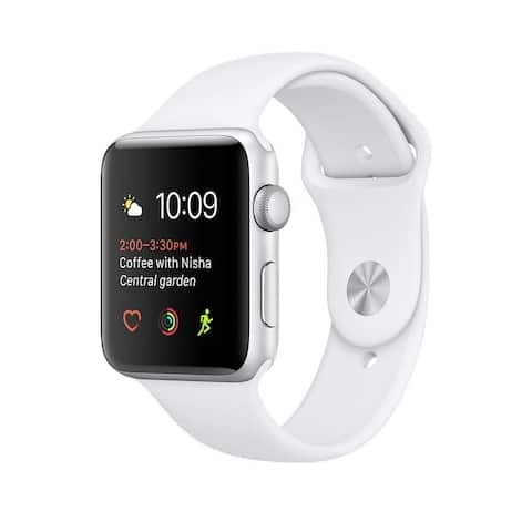 Apple Watch Series 2 38mm Silver Aluminum Case & White Band (Refurbished)