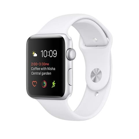 Apple Watch Series 2 42mm Silver Aluminum Case & White Band (Refurbished)