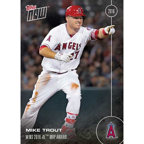 LA Angels Mike Trout #OS-31 Topps Now 2016 American League MVP Award Winner - multi
