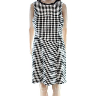 Lauren Ralph Lauren NEW Black Women 12P Petite Houndstooth Sheath Dress
