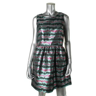 French Connection Womens Metallic Sleeveless Clubwear Dress - 4