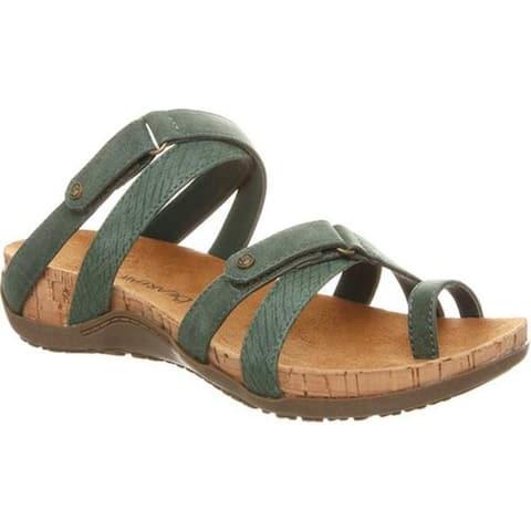 Bearpaw Women's Nadine Toe Loop Sandal Marsh Faux Leather
