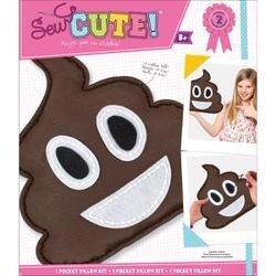 Emoji Pile Of Poo Pillow Sew Cute! Felt Kit